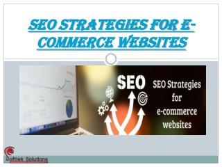 SEO STRATEGIES FOR E-COMMERCE WEBSITES