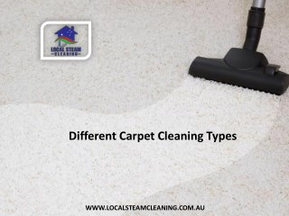 Different Carpet Cleaning Types