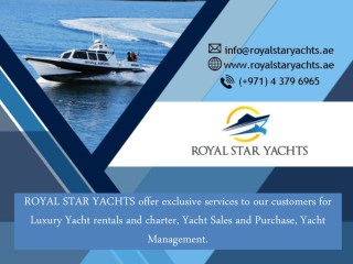 Yacht Rental Dubai - Stress Free and a Fun Filled Trip