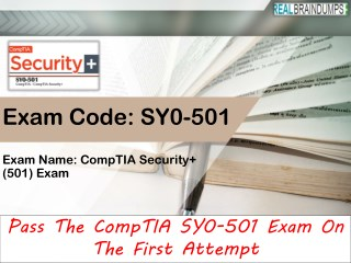 CompTIA SY0-501 Questions Answer PDF File