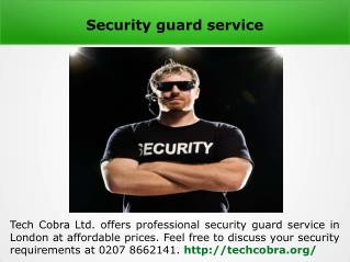 Retail security guards London
