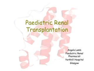 Paediatric Renal Transplantation