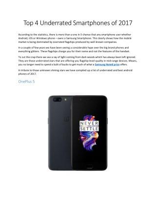 Top 4 Underrated Smartphones of 2017