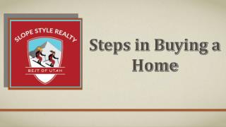 Steps in Buying a Home