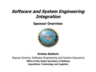 Software and System Engineering Integration Sponsor Overview