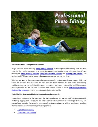 Professional Photo Editing Services from Custom Photo Editing Company