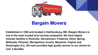 Movers Company in Maryland