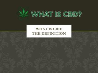 What is CBD: The definition