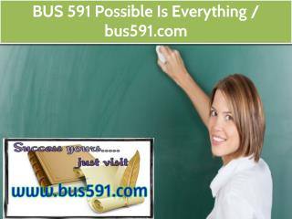 BUS 591 Possible Is Everything / bus591.com