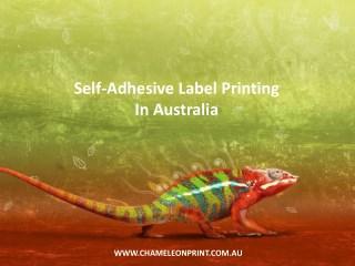 Self-Adhesive Label Printing In Australia