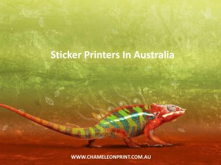 Sticker Printers In Australia