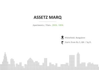 New Apartment For Sale From Assetz Marq Project Whitefield