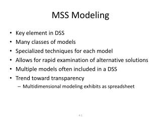 MSS Modeling