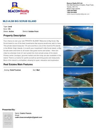 Big Scrub Island - Best Investment on Land in British Virgin Islands