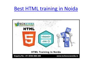 HTML Training in Noida | Best HTML Training Institute in Noida