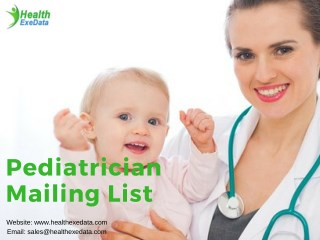 Pediatrician Mailing List