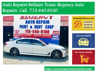 Where to find best auto repairs Bellaire Texas- Regency auto repair