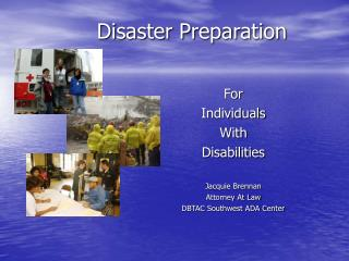 Disaster Preparation
