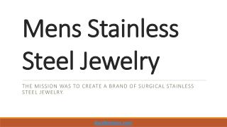 Mens Stainless Steel Jewelry