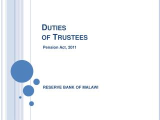 Duties  of Trustees