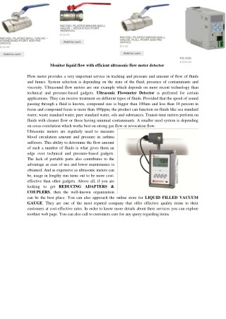 Ultrasonic flowmeter detector