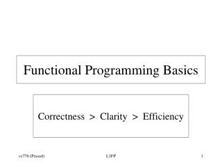 Functional Programming Basics