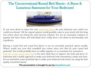 The Unconventional Round Bed Sheets– A Brave & Luxurious Statement for Your Bedroom!