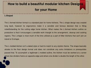 Beautiful modular kitchen designs for your Home