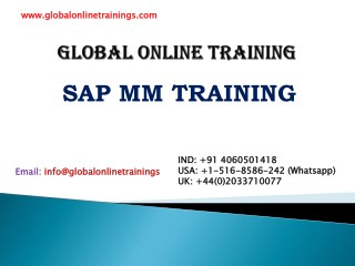 SAP MM Training | SAP Material Management Online Course