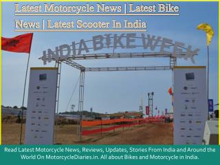 Latest Motorcycle News, Latest Bike News | Motorcyclediaries
