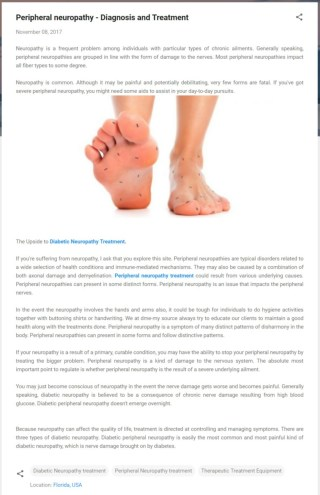 Peripheral neuropathy - Diagnosis and Treatment
