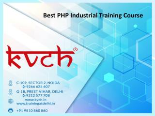 6 months PHP training Institute In Noida