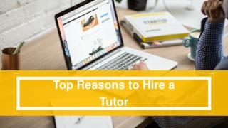Why you need a tutor