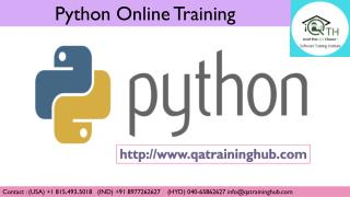 Best Python Online Training with Live Project by Expert