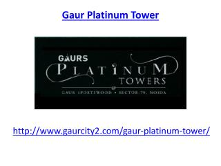 Gaur Sports wood apartment Noida
