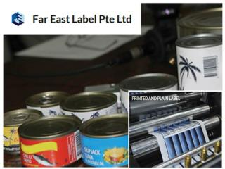 Plain and Printed Roll Label Supplier Singapore