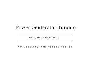 Standby Home Generators