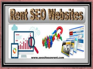 SEO Sites On Rent - Helps to Hire the Best SEO Website