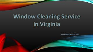 A and C Window Cleaning Services in Virginia