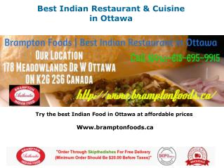 Best Indian Restaurant & Cuisine in Ottawa