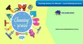 Cleaning Homes For Women - Local Cleaning Services