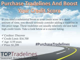 Purchase Tradelines And Boost Your Credit Score