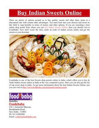 Buy Indian Sweets Online