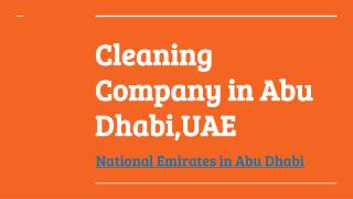 Cleaning Services in Abu Dhabi | National Emirates