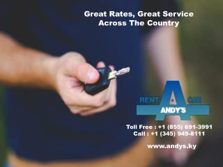Inexpensive Rental Car, Quality Service, and Flexible Plans in Cayman