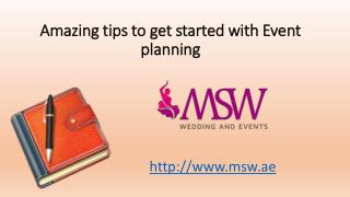 Amazing tips to get started with event planning