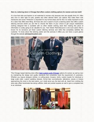 Men Tuxedo Suits in Chicago