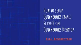 Steps to set up email service in QuickBooks WebMail