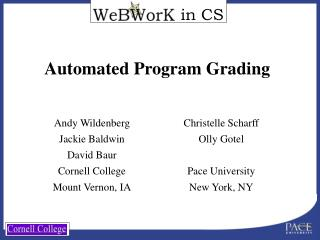 Automated Program Grading