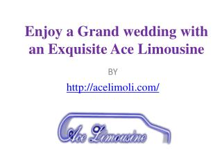 Enjoy a Grand wedding with an Exquisite Ace Limousine